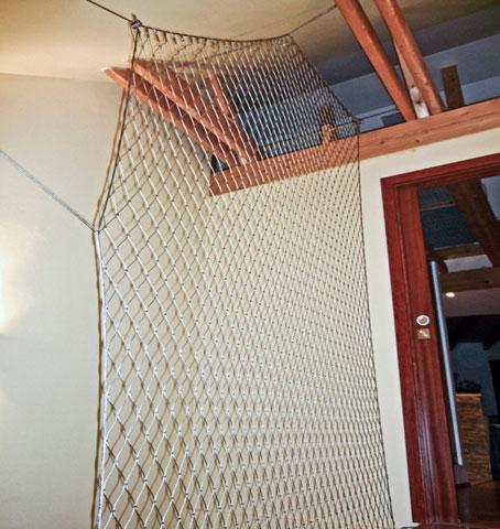 Ochranná síť na schodiště